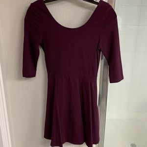 Express XS wide neck dress with zip up back
